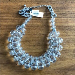 White House Black Market LUCITE BEADED necklace